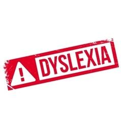Dyslexia rubber stamp vector image