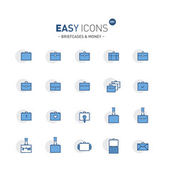 Easy icons 05f briefcases vector