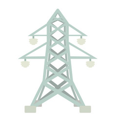 Electric pole icon cartoon style vector