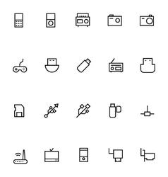 Electronics stroke icons 2 vector