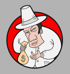 Entrepreneur thief vector
