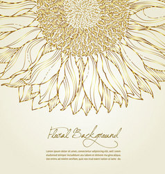 Floral sunflower background vector