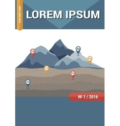 Geology science magazine brochure or book cover vector image vector image