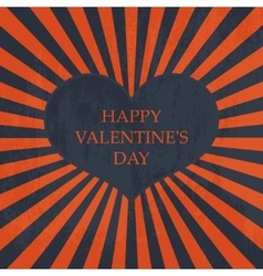 Happy Valentines day Vintage card vector image