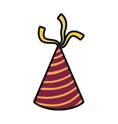 Hat party celebration birthday icon vector