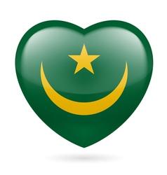 Heart icon of mauritania vector