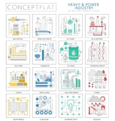 Infographics mini concept Heavy and power industry vector image vector image