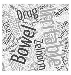 Irritable bowel syndrome zelnorm drug word cloud vector