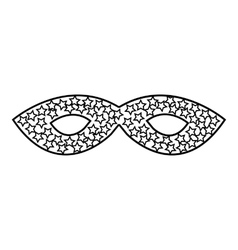 Mask icon outline style vector
