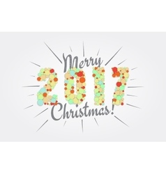 Merry christmas happy new year 2017 typographic vector