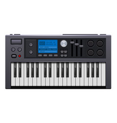 Music synthesizer realistic style electronic vector