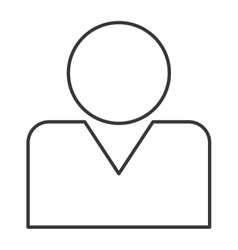 person pictogram icon vector image