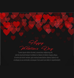 red pattern of random falling hearts confetti vector image