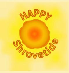 shrovetide festive design pancake week vector image