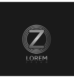 Silver z letter logo vector