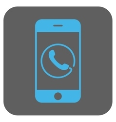 Smartphone phone rounded square icon vector
