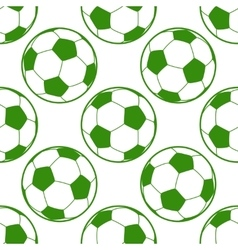 Soccer ball seamless background vector image