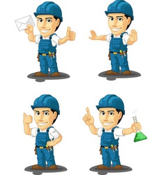 Technician or repairman mascot 4 vector