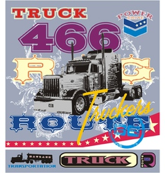 truck route 66 vector image