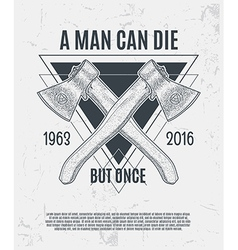 Two dotwork axes with modern street style vector image