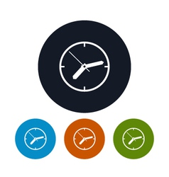 Watch icon wall clock icon vector image