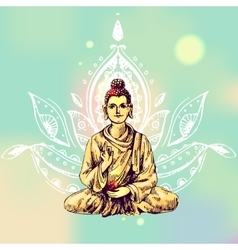 with buddha vector image