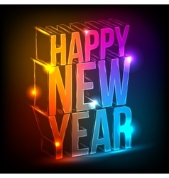 Neon Happy New Year vector image