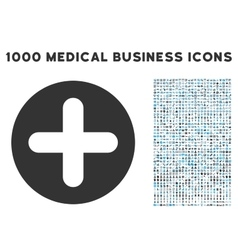 Create icon with 1000 medical business pictograms vector
