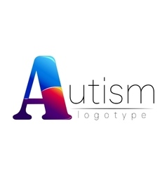 Modern logo of psychology autism creative style vector