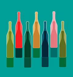Background bottle vector