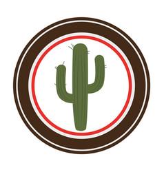 Cactus plant wild west icon vector
