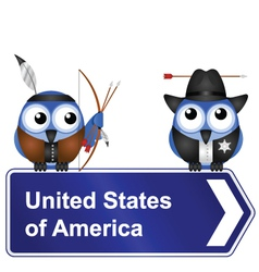 United states of america sign vector