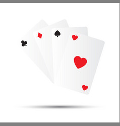 Simple playing cards isolated on white background vector