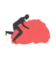 fuck brain fucking brains man sex on gyrus vector image