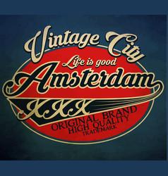 Typography emblem t-shirt stamp graphics vintage vector