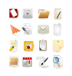 Paper icon set vector