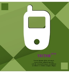 Mobile phone flat modern web design on a flat vector