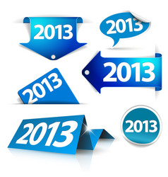 2013 labels stickers pointers tags vector