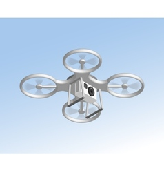Remote air drone with camera vector