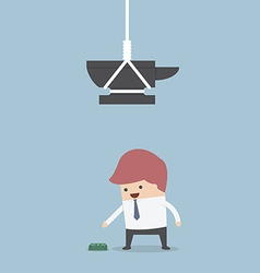 Businessman and money trap vector