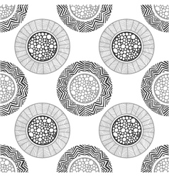 Seamless abstract decorative pattern of circles vector