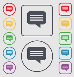 Speech bubble chat think icon sign symbol on the vector