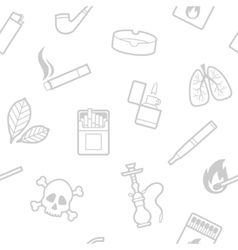Seamless pattern of smoking elements vector