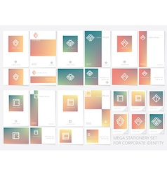 Corporate stationary branding templates vector