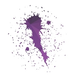 Comet-shaped ink splatter vector