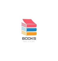 Book skyscraper template logo icon back to school vector