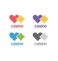 Casino logo icon poker cards or game and money vector