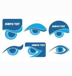 Vision symbols vector