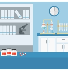 Background of laboratory interior vector