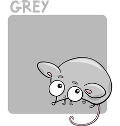 Color Grey and Mouse Cartoon vector image